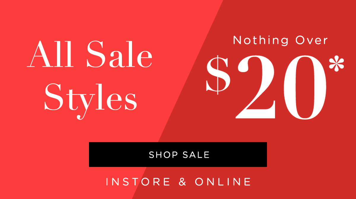 Nothing Over $20 All Sale | Shop Sale